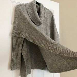 Cowl Neck Shawl with Sleeves